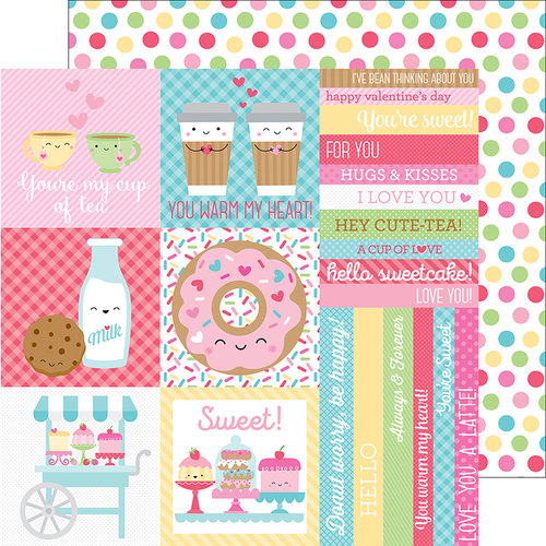 Doodlebug Design - Cream and Sugar Collection - 12 x 12 Double Sided Paper - Cake Sprinkles