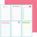 Doodlebug Design - Cream and Sugar Collection - 12 x 12 Double Sided Paper - Love You Lots