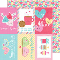 Doodlebug Design - Cream and Sugar Collection - 12 x 12 Double Sided Paper - Falling in Love