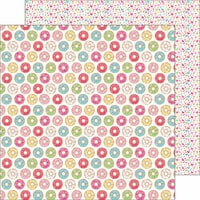 Doodlebug Design - Cream and Sugar Collection - 12 x 12 Double Sided Paper - Donut Shoppe