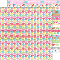 Doodlebug Design - Cream and Sugar Collection - 12 x 12 Double Sided Paper - Tea Time