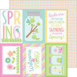 Doodlebug Design - Spring Things Collection - 12 x 12 Double Sided Paper - Butterfly Net
