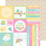 Doodlebug Design - Spring Things Collection - 12 x 12 Double Sided Paper - Baby Blooms