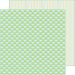 Doodlebug Design - Spring Things Collection - 12 x 12 Double Sided Paper - Frog Friends