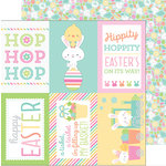 Doodlebug Design - Easter Express Collection - 12 x 12 Double Sided Paper - Bunny and Friends