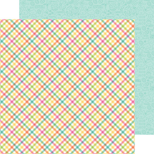 Doodlebug Design - Easter Express Collection - 12 x 12 Double Sided Paper - Easter Basket