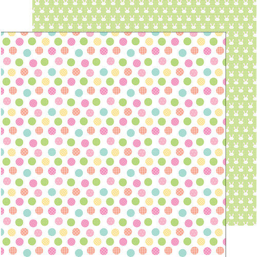 Doodlebug Design - Easter Express Collection - 12 x 12 Double Sided Paper - Easter Egg Dot