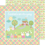 Doodlebug Design - Easter Express Collection - 12 x 12 Double Sided Paper - Easter Express
