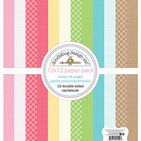 Doodlebug Design - Cream and Sugar Collection - 12 x 12 Paper Pack - Petite Print Assortment