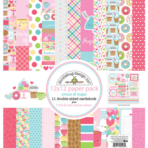 Doodlebug Design - Cream and Sugar Collection - 12 x 12 Paper Pack