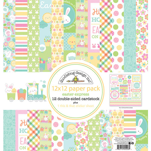 Doodlebug Design - Easter Express Collection - 12 x 12 Paper Pack