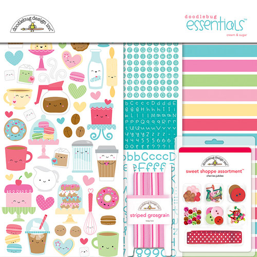 Doodlebug Design - Cream and Sugar Collection - Essentials Kit