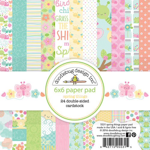 Doodlebug Design - Spring Things Collection - 6 x 6 Paper Pad