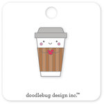Doodlebug Design - Cream and Sugar Collection - Collectible Pins - Cup O Jo