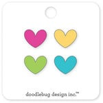 Doodlebug Design - Cream and Sugar Collection - Collectible Pins - Mini Hearts