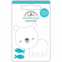 Doodlebug Design - At the Zoo Collection - Doodle-Pops - 3 Dimensional Cardstock Stickers - Patrick Polar Bear