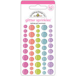 Doodlebug Design - Fairy Tales Collection - Glitter Sprinkles - Self Adhesive Enamel Dots - Birthday Girl Assortment