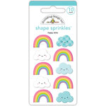 Doodlebug Design - Fairy Tales Collection - Sprinkles - Self Adhesive Enamel Shapes - Happy Skies