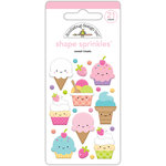 Doodlebug Design - Fairy Tales Collection - Sprinkles - Self Adhesive Enamel Shapes - Sweet Treats