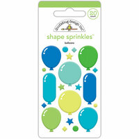 Doodlebug Design - Dragon Tails Collection - Sprinkles - Self Adhesive Enamel Shapes - Balloons