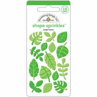 Doodlebug Design - At the Zoo Collection - Sprinkles - Self Adhesive Enamel Shapes - Jungle Leaves