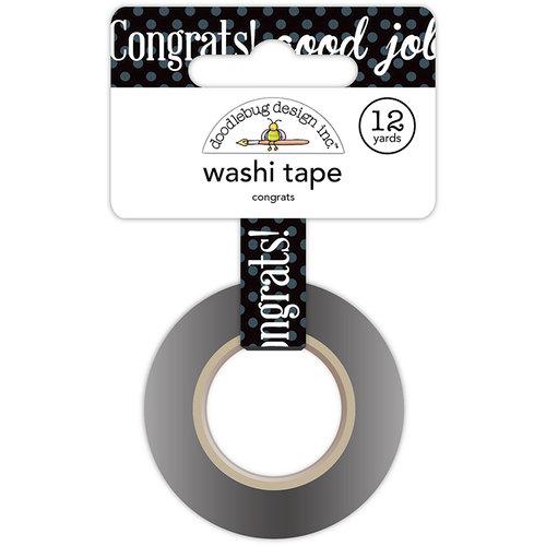 Doodlebug Design - Hats Off Collection - Washi Tape - Congrats