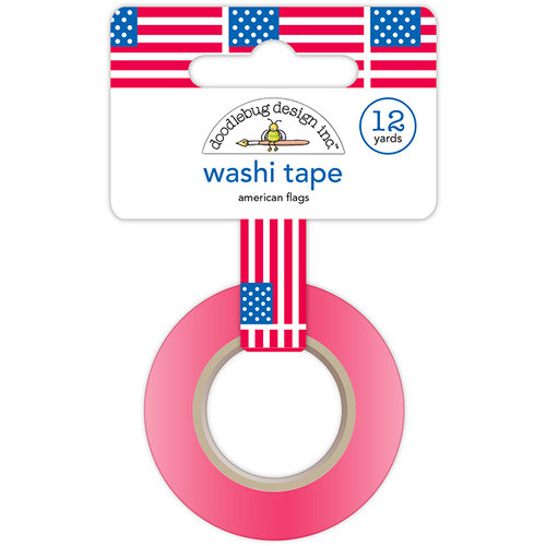 Doodlebug Design - Yankee Doodle Collection - Washi Tape - American Flags