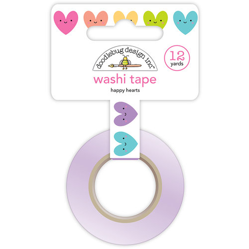 Doodlebug Design - Fairy Tales Collection - Washi Tape - Happy Hearts