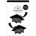 Doodlebug Design - Hats Off Collection - Doodle-Pops - 3 Dimensional Cardstock Stickers - Hats