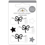 Doodlebug Design - Hats Off Collection - Doodle-Pops - 3 Dimensional Cardstock Stickers - Diploma Day Mini