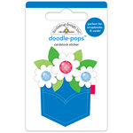 Doodlebug Design - Yankee Doodle Collection - Doodle-Pops - 3 Dimensional Cardstock Stickers - Pocket Full of Posies