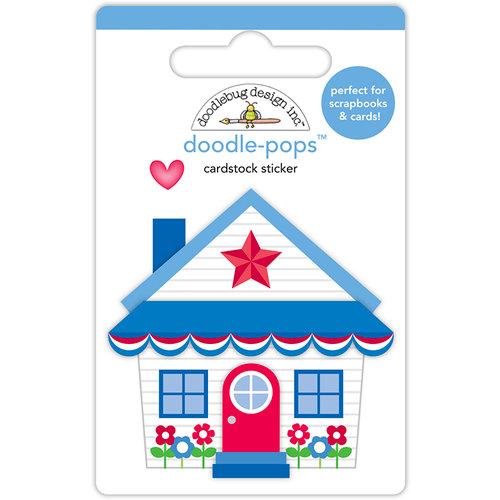 Doodlebug Design - Yankee Doodle Collection - Doodle-Pops - 3 Dimensional Cardstock Stickers - Cute Cottage