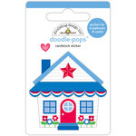 Doodlebug Design - Yankee Doodle Collection - Doodle-Pops - 3 Dimensional Cardstock Stickers - Cute Cottage