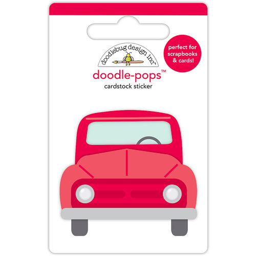 Doodlebug Design - Yankee Doodle Collection - Doodle-Pops - 3 Dimensional Cardstock Stickers - Old Red