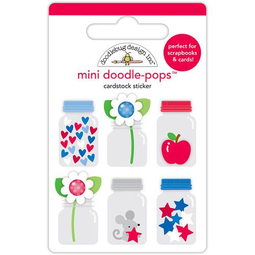 Doodlebug Design - Yankee Doodle Collection - Doodle-Pops - 3 Dimensional Cardstock Stickers - Teensy Treasures Mini