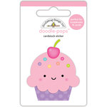 Doodlebug Design - Fairy Tales Collection - Doodle-Pops - 3 Dimensional Cardstock Stickers - Cute Cake