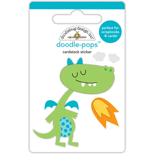 Doodlebug Design - Dragon Tails Collection - Doodle-Pops - 3 Dimensional Cardstock Stickers - Puff