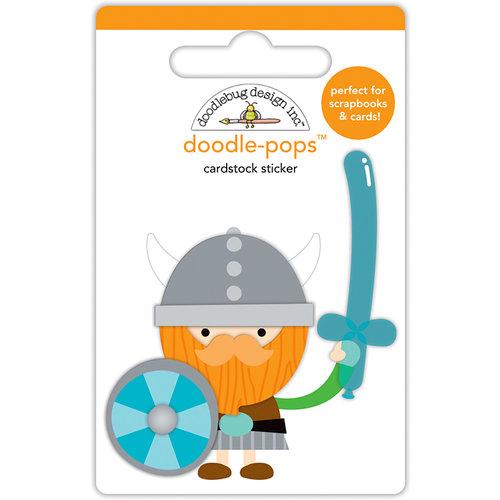 Doodlebug Design - Dragon Tails Collection - Doodle-Pops - 3 Dimensional Cardstock Stickers - Wee Warrior
