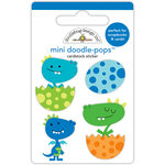 Doodlebug Design - Dragon Tails Collection - Doodle-Pops - 3 Dimensional Cardstock Stickers - Dragon Babies Mini