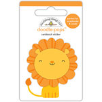 Doodlebug Design - At the Zoo Collection - Doodle-Pops - 3 Dimensional Cardstock Stickers - Leo Lion