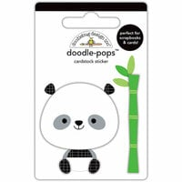 Doodlebug Design - At the Zoo Collection - Doodle-Pops - 3 Dimensional Cardstock Stickers - Polly Panda