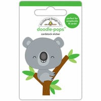 Doodlebug Design - At the Zoo Collection - Doodle-Pops - 3 Dimensional Cardstock Stickers - Kc Koala
