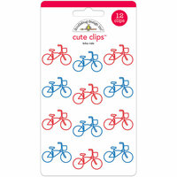 Doodlebug Design - Yankee Doodle Collection - Cute Clips - Bike Ride