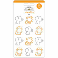 Doodlebug Design - At the Zoo Collection - Cute Clips - Zoo