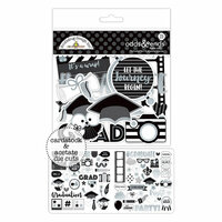 Doodlebug Design - Hats Off Collection - Odds and Ends - Die Cut Cardstock Pieces with Foil Accents