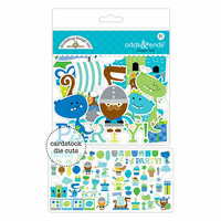 Doodlebug Design - Dragon Tails Collection - Odds and Ends - Die Cut Cardstock Pieces