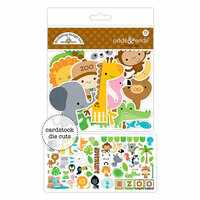 Doodlebug Design - At the Zoo Collection - Odds and Ends - Die Cut Cardstock Pieces