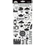 Doodlebug Design - Hats Off Collection - Cardstock Stickers - Icons with Foil Accents
