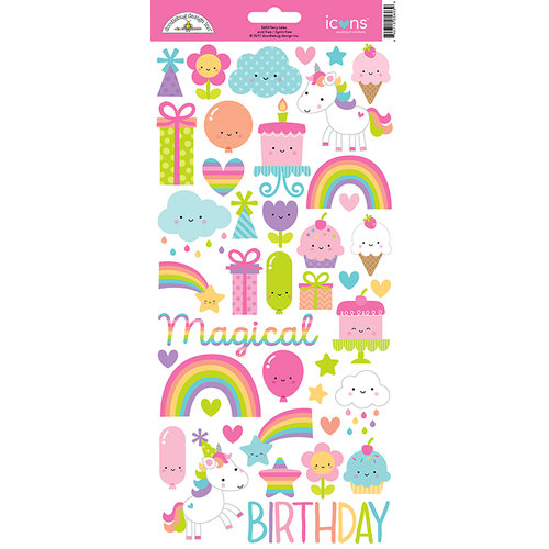 Doodlebug Design - Fairy Tales Collection - Cardstock Stickers - Icons