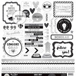 Doodlebug Design - Hats Off Collection - Cardstock Stickers - This and That with Foil Accents